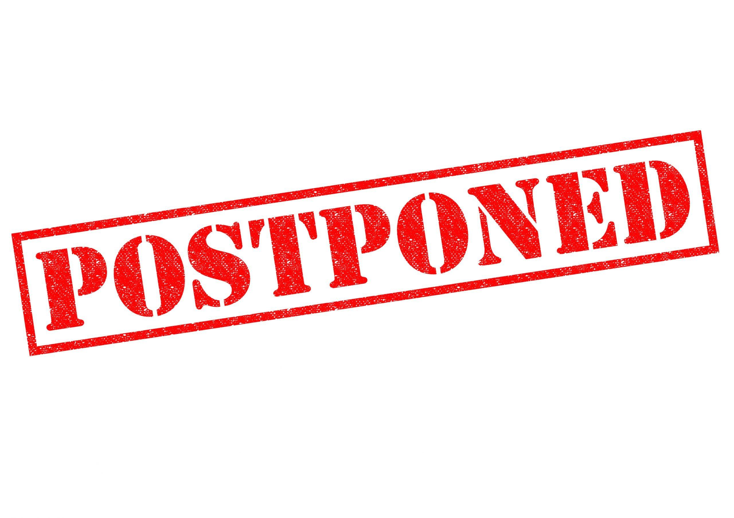 Don't Cancel… Postpone